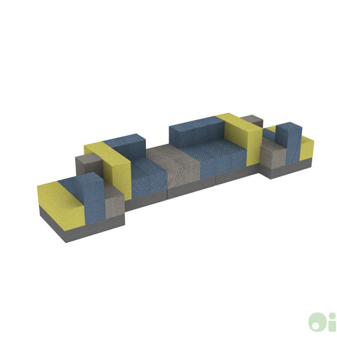 5Scape Bench in Sprout, Tidal & Forge
