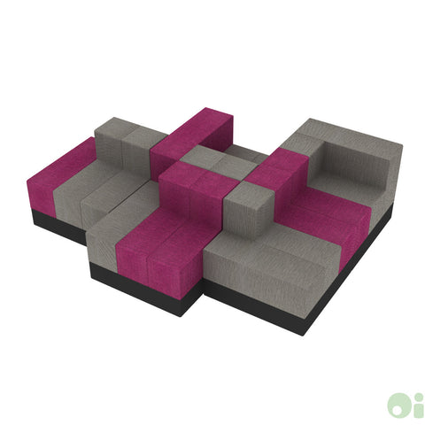 5Scape Lounge in Fuchsia & Forge