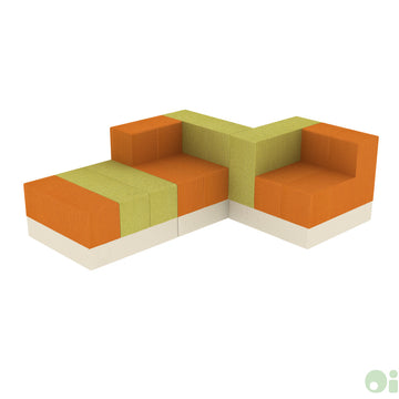 3Scape Lounge Sofa in Oriole & Sprout