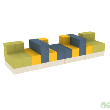 4Scape Commons Bench in Sprout, Sundance and Tidal