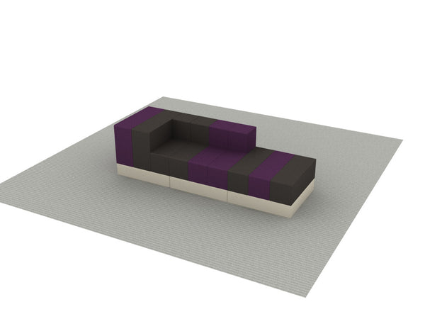 Cellular™ 3scape Bench II in Fucia & Shale Fun Covering