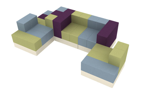 5Scape Lounge Sectional in Celeste, Jessamy & Fucia