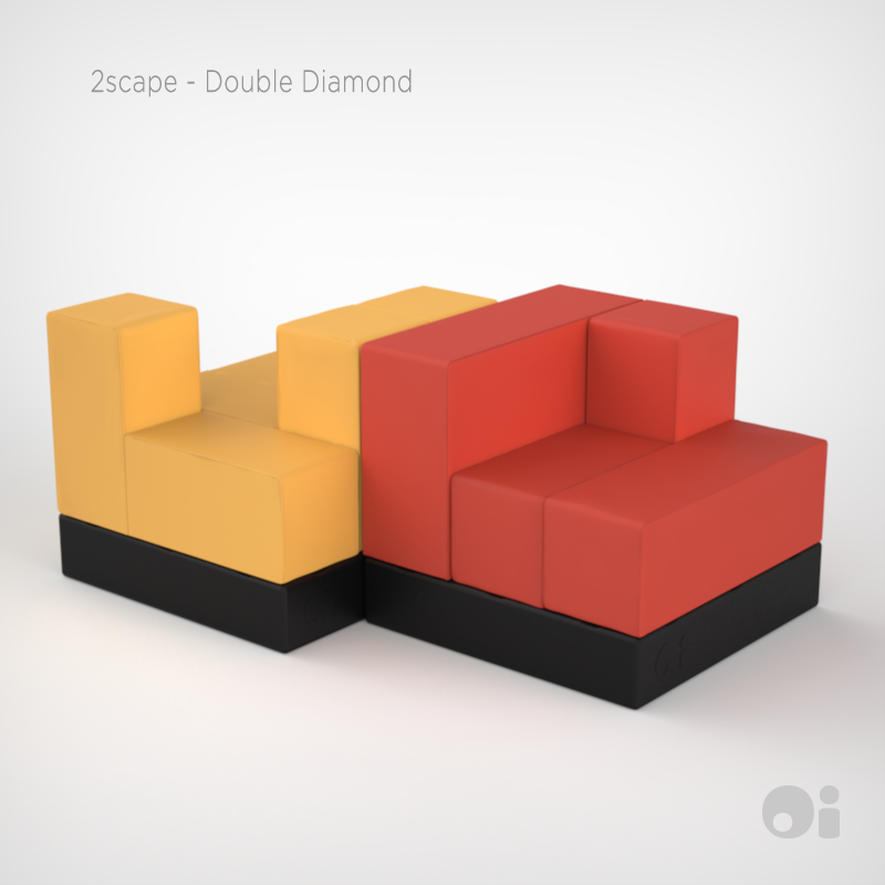 Modular Furniture Part - 29: Cellular™ 2scape Double Diamond In Flan U0026 Tangello Fun Coverings