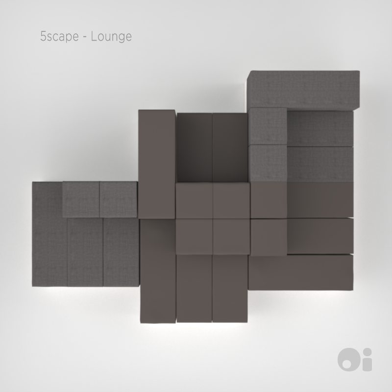 Cellular™ 5scape Lounge in Shale Fun Covering & Light Grey Living Covering