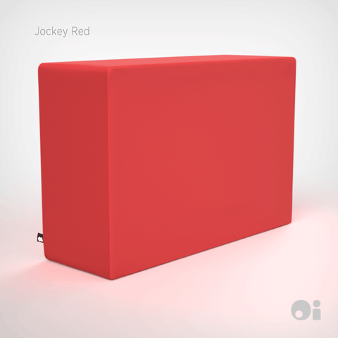 Cellular™ Arm Cushion in Jockey Red Outdoor Covering