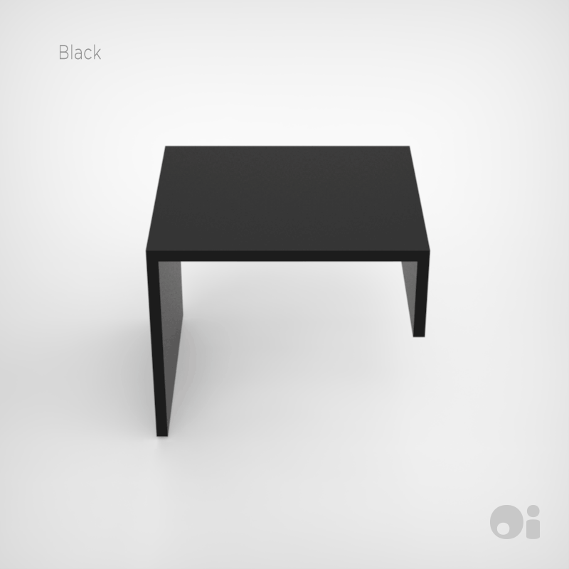Cellular™ Arm Nesting Table in Black Microdot Finish