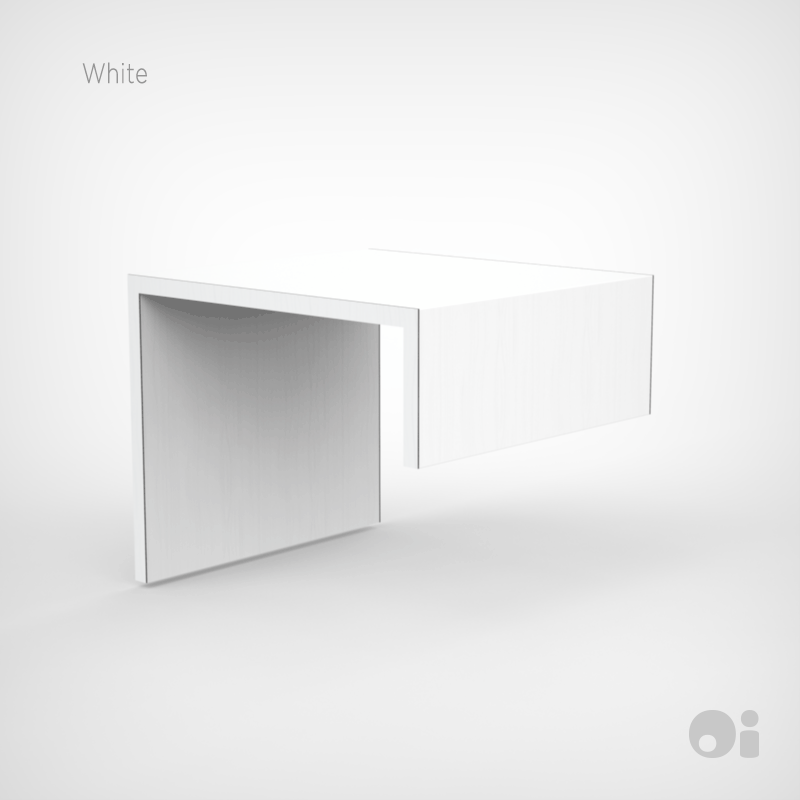 Cellular™ Arm Nesting Table in White Sculpted Finish