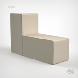 Cellular™ Back Cushion in Cream Living Covering