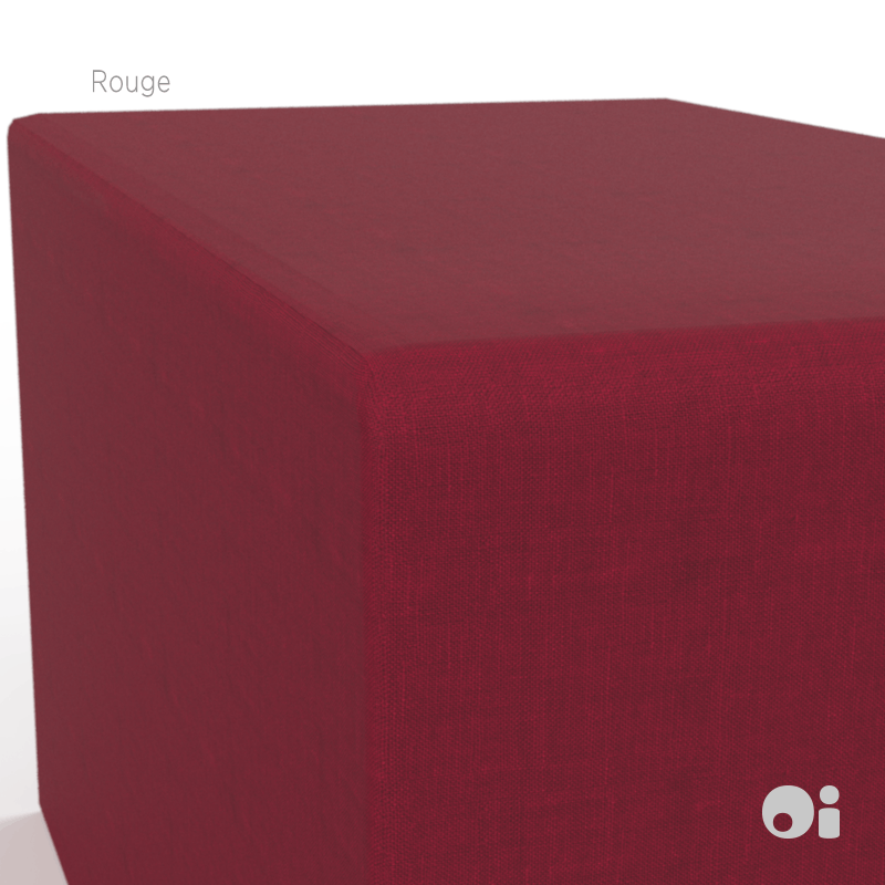 Cellular™ Back Cushion in Rouge Living Covering