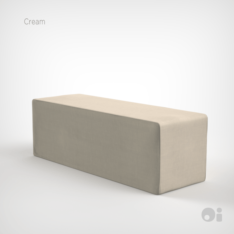 Cellular™ Seat Cushion in Cream Living Covering