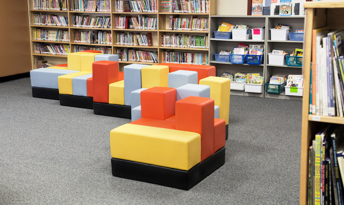 Cellular™ Modular Furniture by Oi Installed in Leo Remillard High School Student Lounge & Cafeteria Commons
