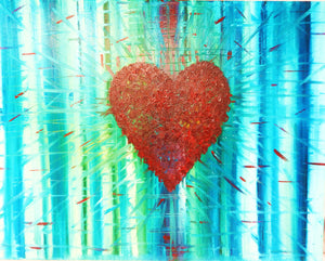 Heart Burst original painting