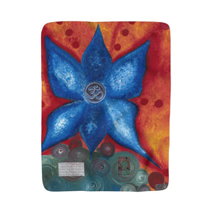Go with the Flow OM Sherpa Fleece Blanket