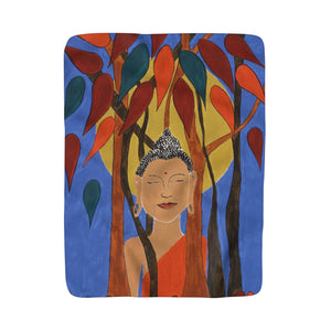 Compassion (Buddha) Sherpa Fleece Blanket