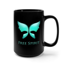 The Free Spirit Black Mug 15oz