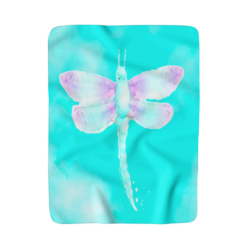 Kindness (Dragonfly) Sherpa Fleece Blanket