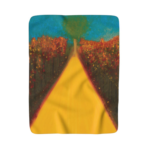 Follow Your Intuition Sherpa Fleece Blanket