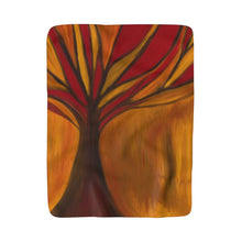 Fire Tree of Forgiveness Sherpa Fleece Blanket