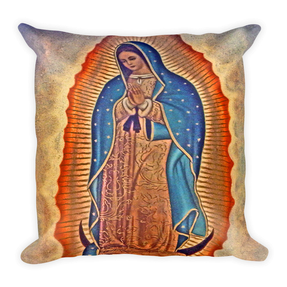 Our Lady of Guadalupe Square Pillow