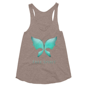 The Free Spirit Women's Tri-Blend Racerback Tank