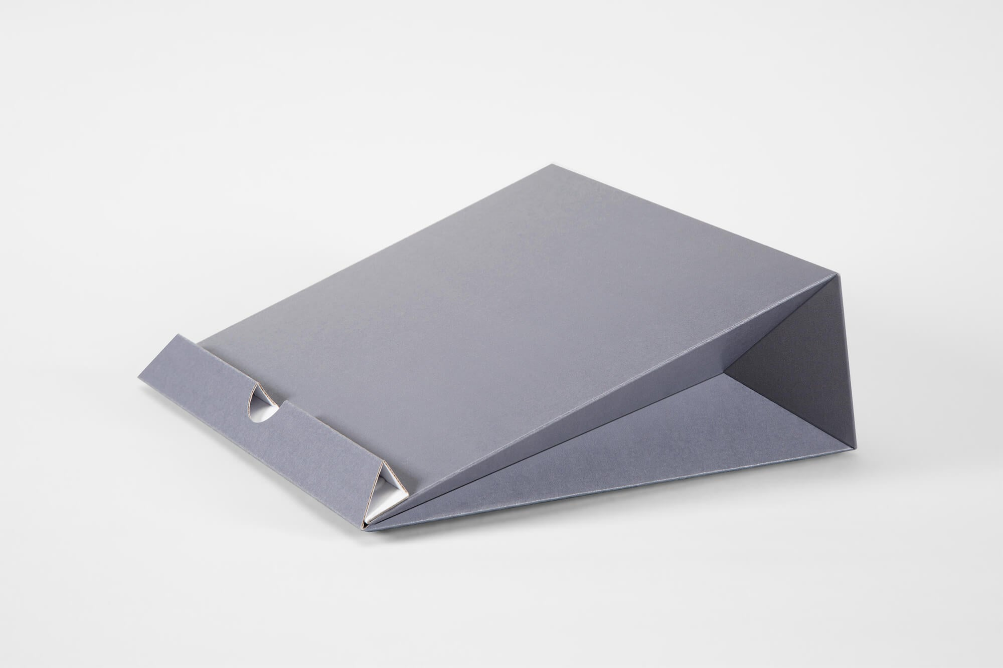 Space gray origami laptop stand