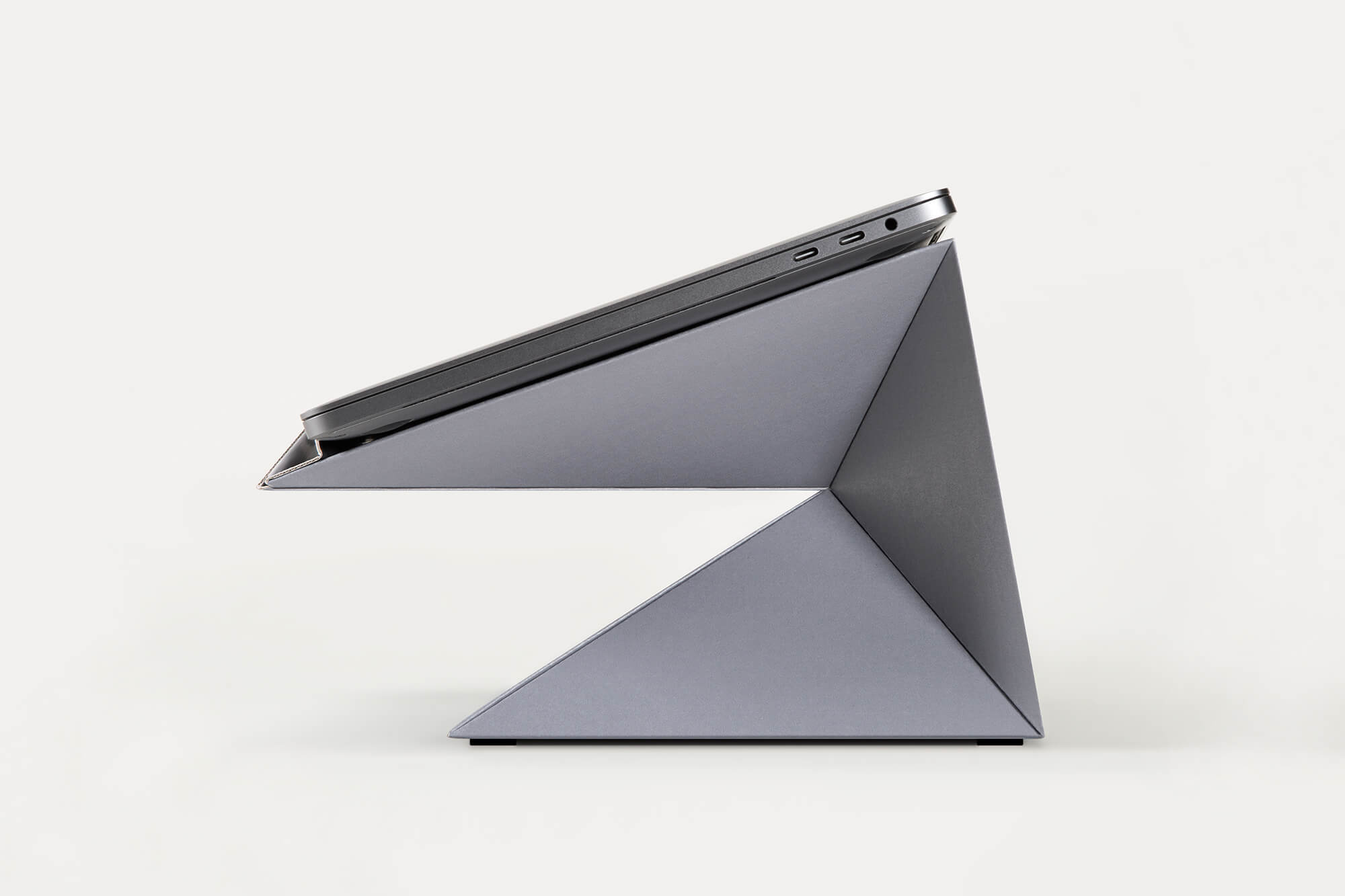 Paper laptop stand space gray
