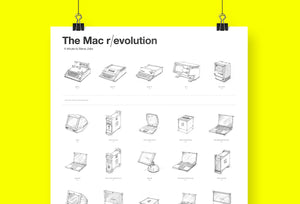 Mac r / evolution Poster. Eine Hommage an Steve Jobs.