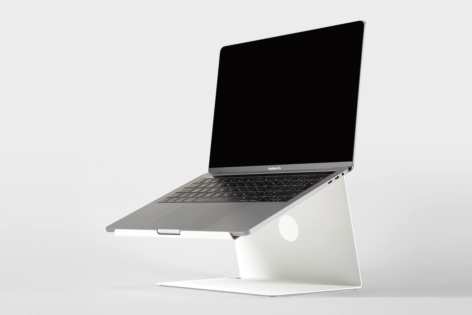 Minimalist stand for Macbook