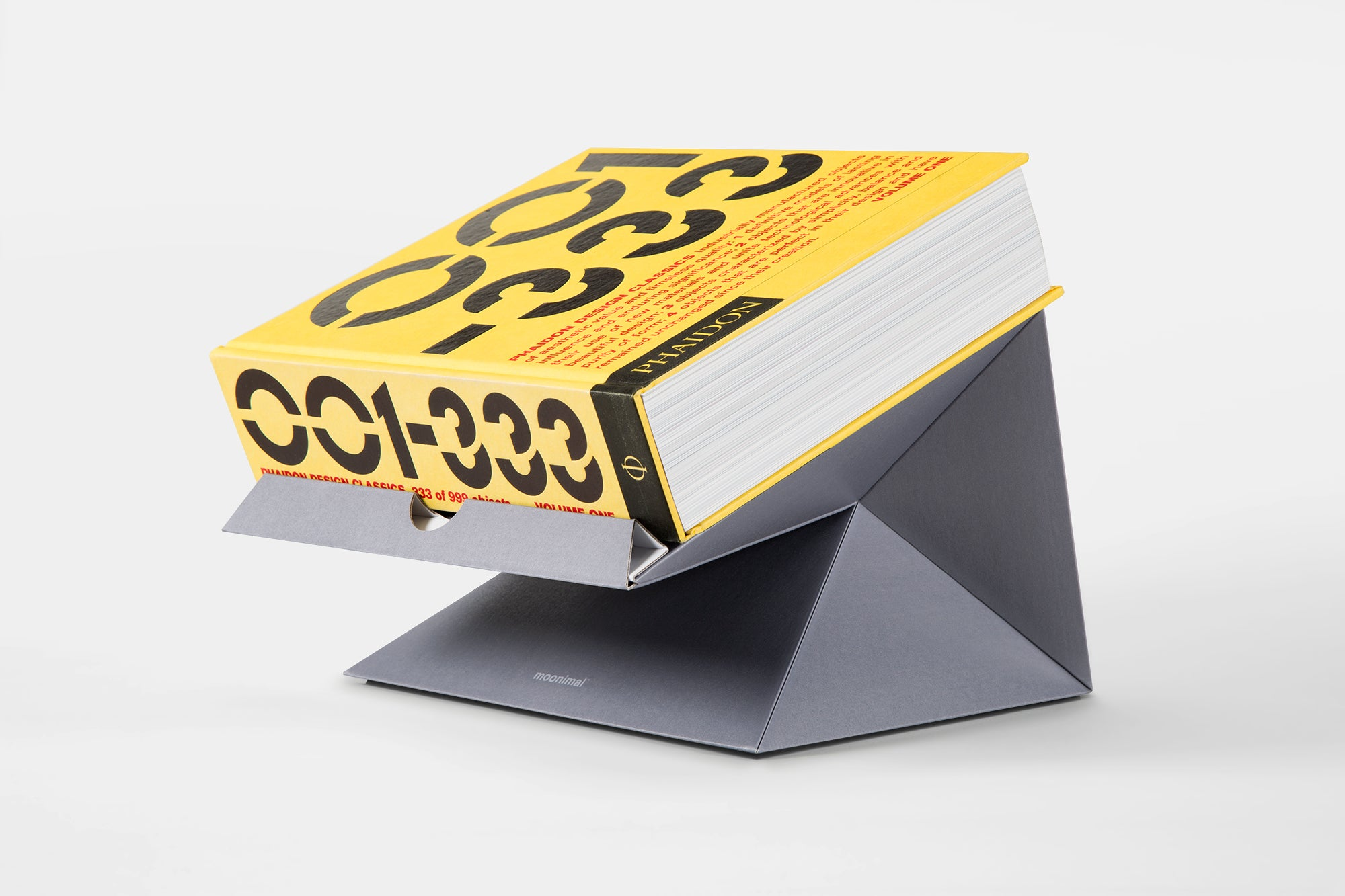 Laptop stand Phaidon Design Classics book