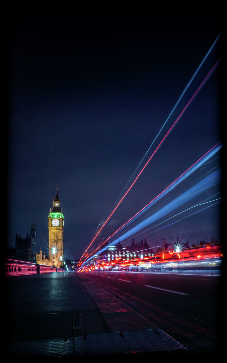 London - Elizabeth Tower - Long Exposure