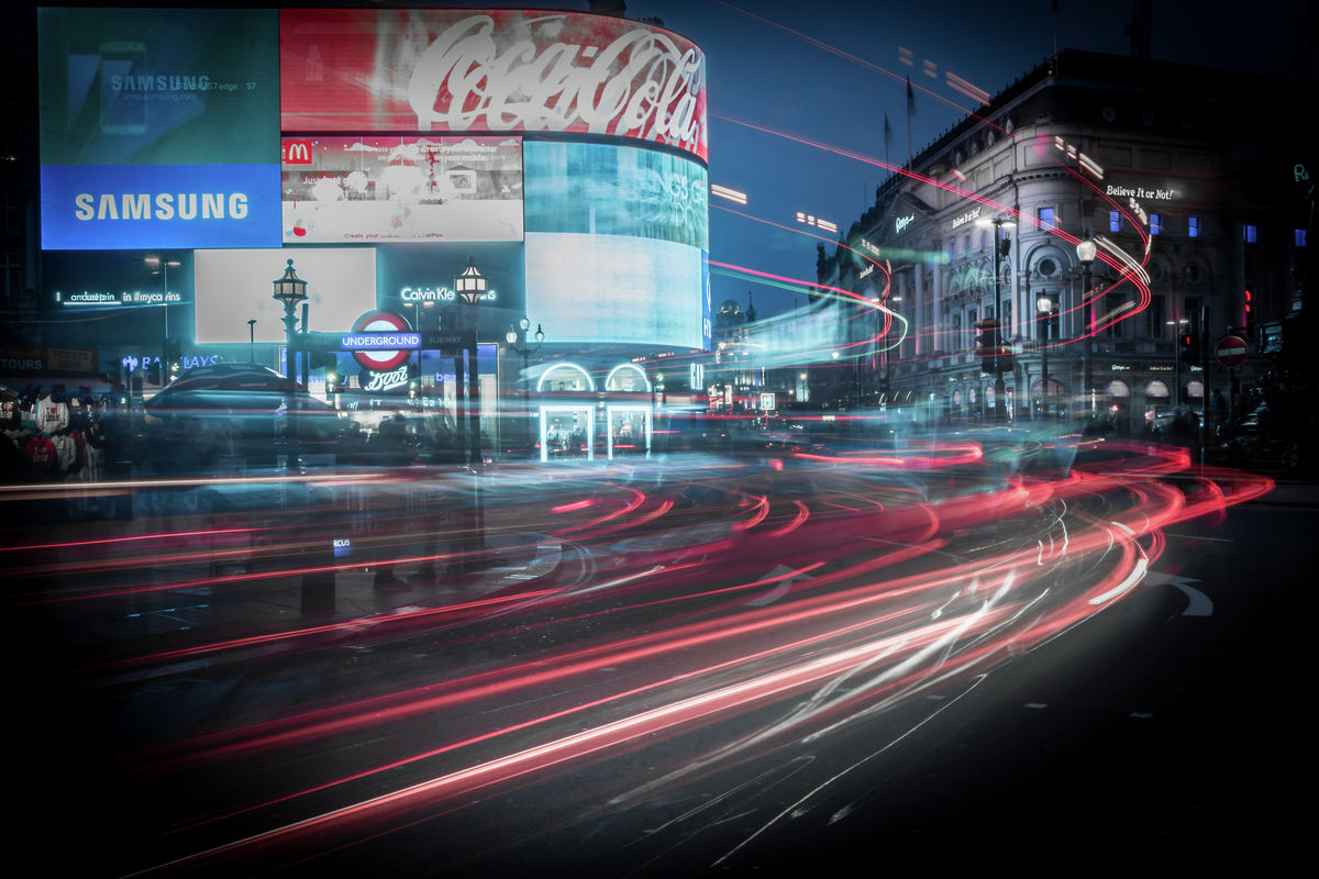 London - Piccadily Circus - Long Exposure