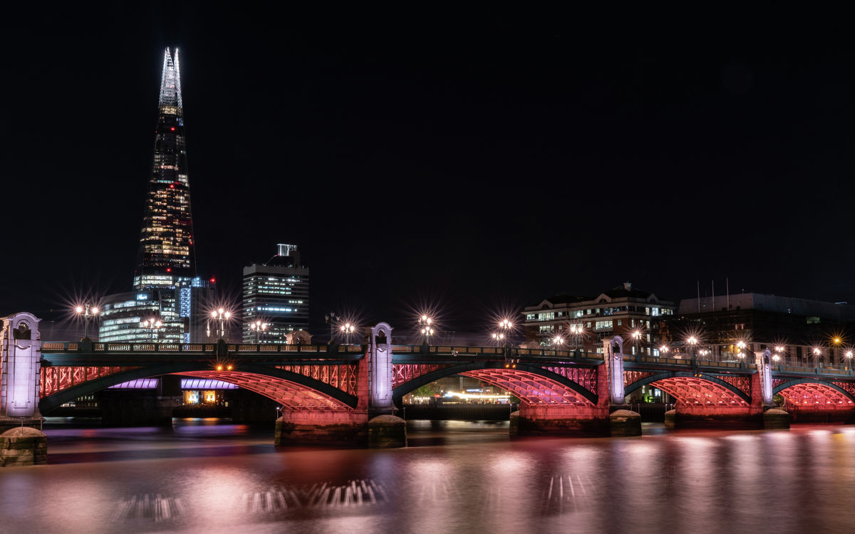 London - Southwark Bridge - The Shard
