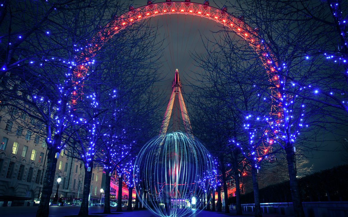 London - London Eye - Long Exposure