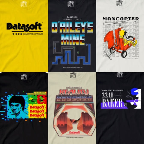 Datasoft Officially Licensed Tee range by Seven Squared #KeepingTheGameAlive