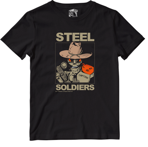 STEEL SOLDIERS OFFICIALLY LICENSED TEE BY SEVEN SQUARED #KEEPINGTHEGAMEALIVE
