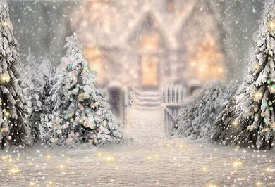 Christmas Background  Snowing Backdrop