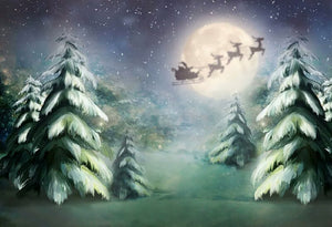 Pine Background Christmas Backdrop