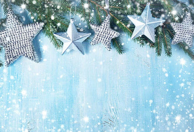 Blue Background Christmas Backdrop