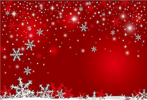 Red Background Snowflake Backdrop