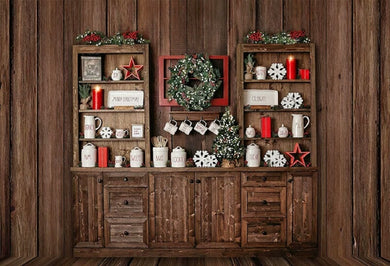 Christmas Background  Wooden Backdrop
