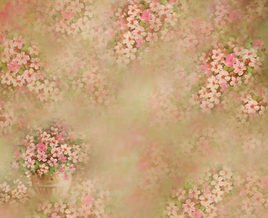 White powder flower background abstract painting