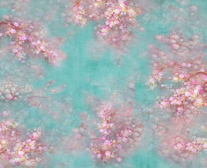 Peach flower abstract background