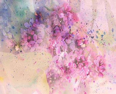 Flower background ink painting