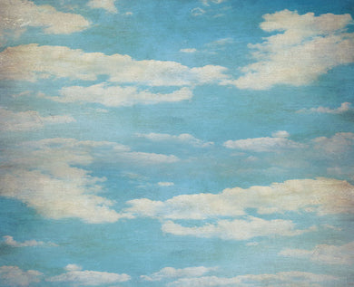 Blue Sky And White Clouds Background Oil Painting