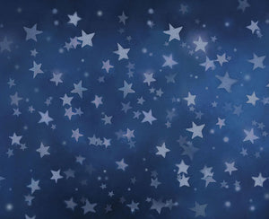 Blue Background Stars Backdrop