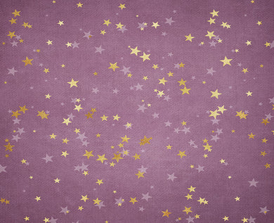 Purple Background Stars Backdrop