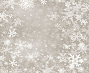 White Background Snowflakes Backdrop
