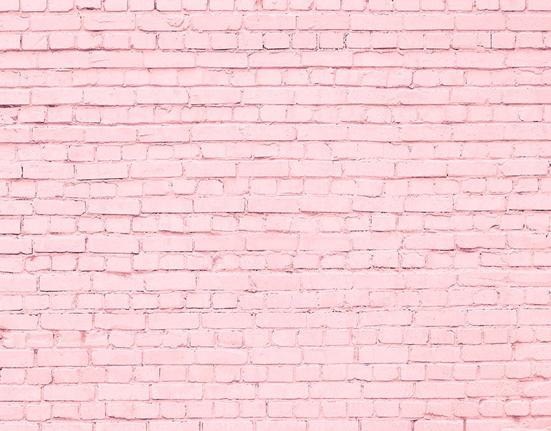 Pink Brick Wall Backdrop Child Photo Shoot Background