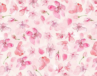 Pink Floral Backdrop for Girls Photo