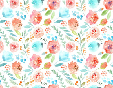 Flower Watercolor Backdrop Girls Photo Background